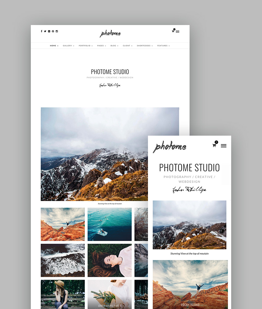 PhotoMe - Creative Photo Gallery Photography Theme