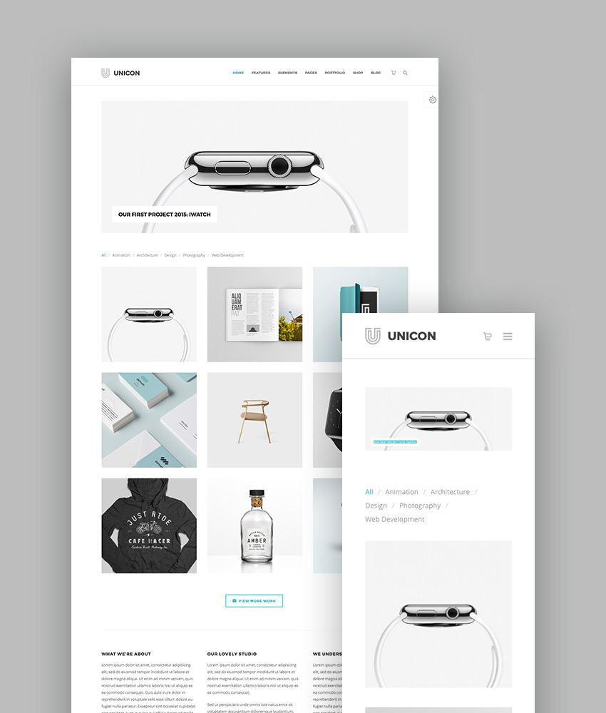 unicon design driven wordpress portfolio theme