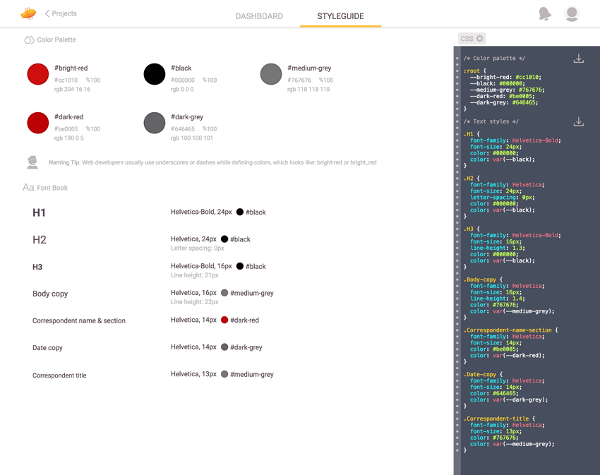 Quick Tip: How to Use Zeplin to Generate Style Guides