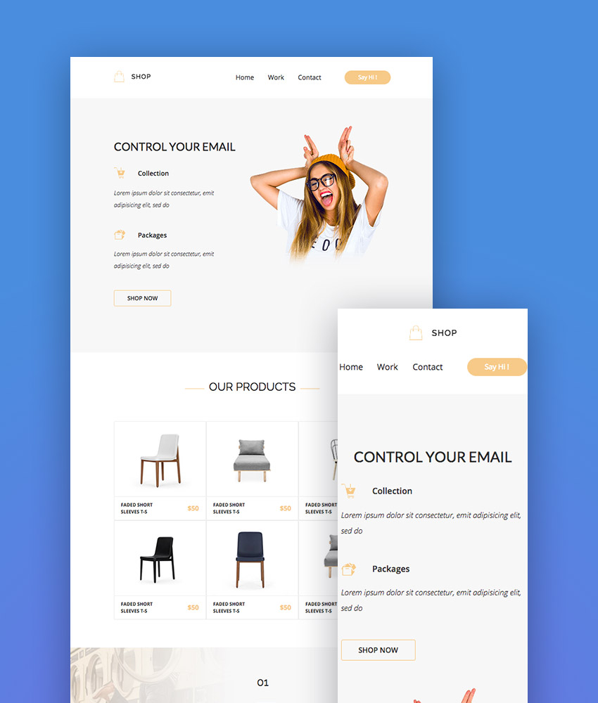 Shop - Responsive Mailchimp Design Templates