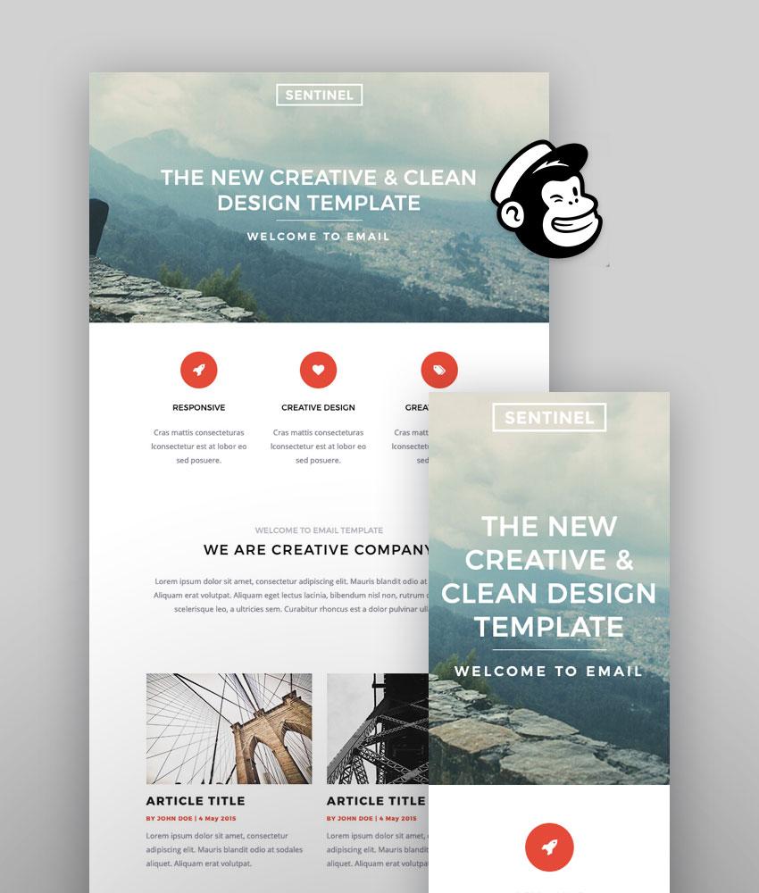 Sentinel - Mailchimp Design Templates