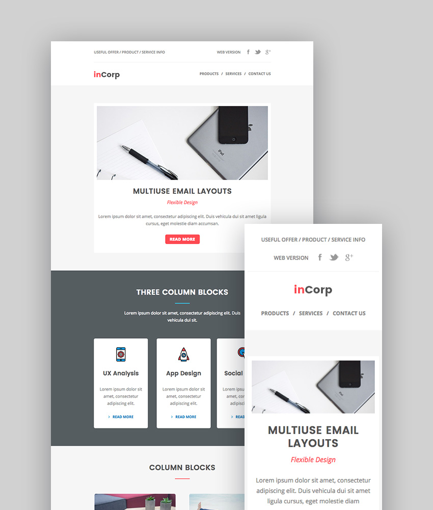 inCorp - Corporate Email Newsletter Templates