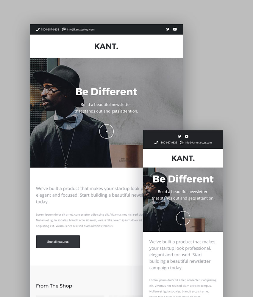 Kant - Best Newsletter Templates