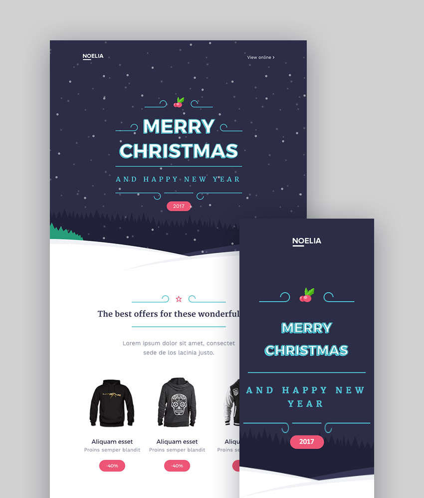 Christmas - Email Templates Set  Kbuilder 12