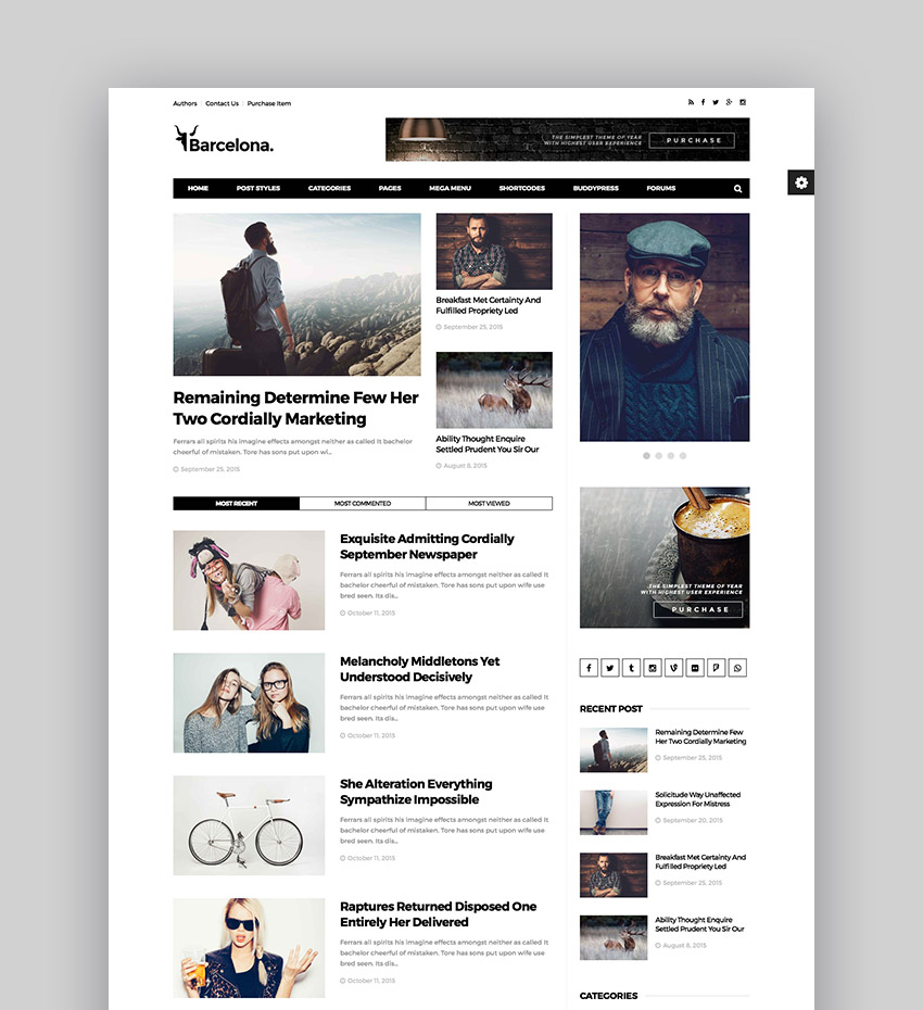 Barcelona - Clean News Magazine WordPress Theme