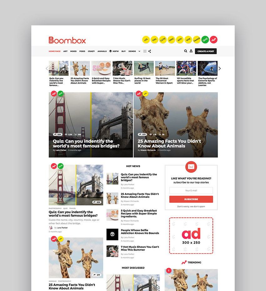 BoomBox Viral Buzz WordPress Theme