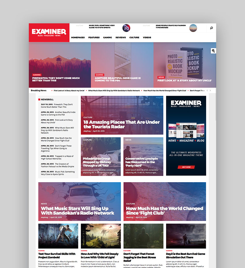 Examiner - Robust WP Magazine Theme