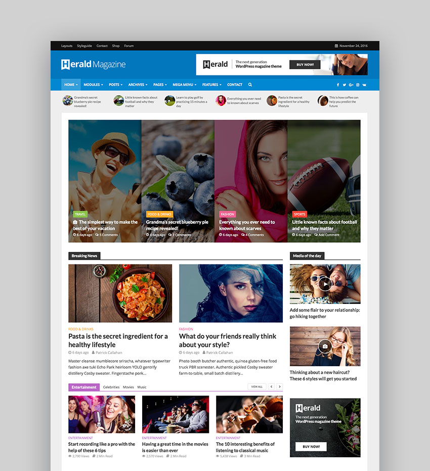 Best wordpress magazine themes for blog and news websites herald news portal magazine wordpress theme maxwellsz