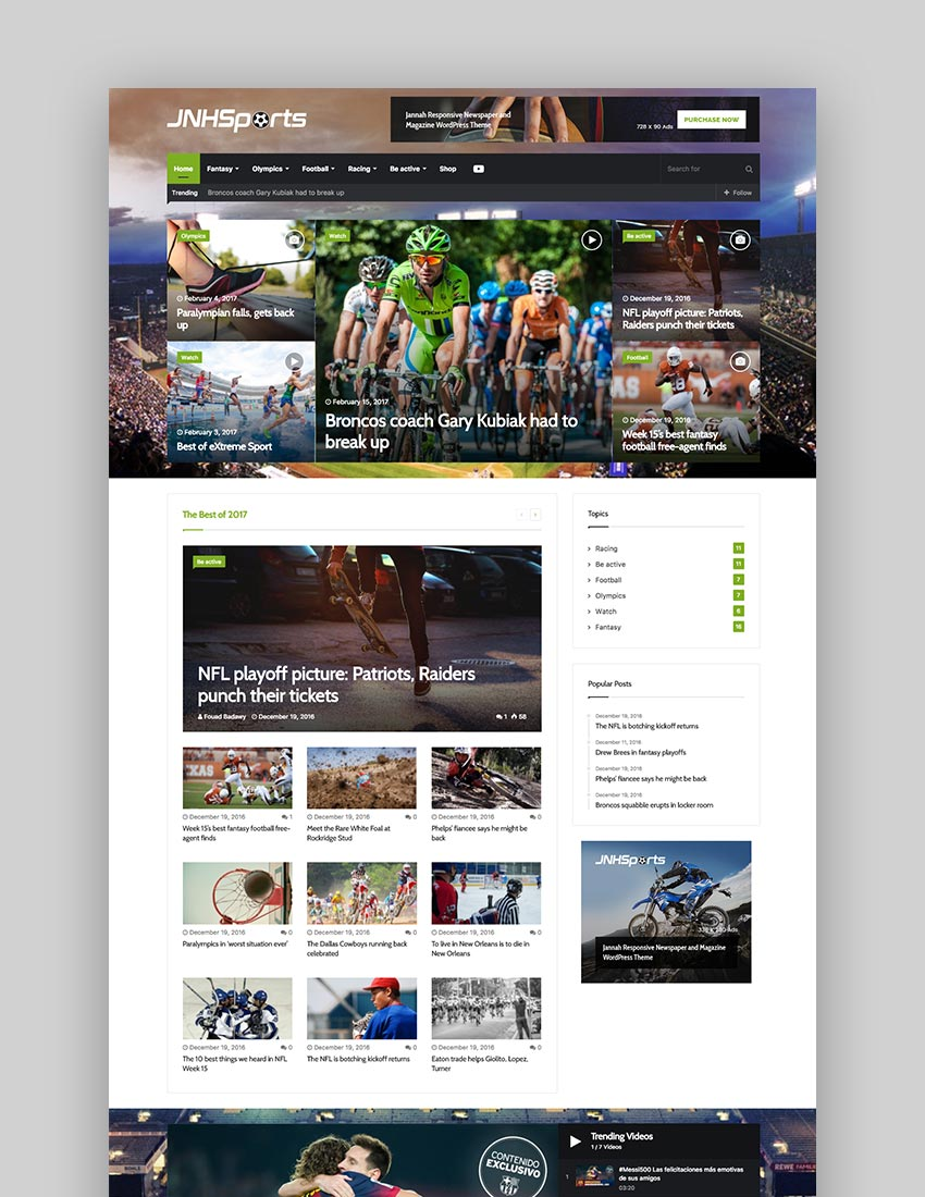 Jannah - WordPress News Magazine Blog  BuddyPress Theme