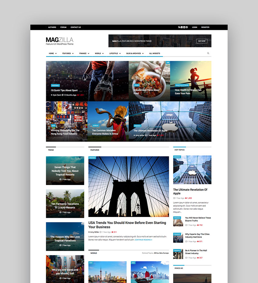roundup-website-template-magzilla 23 Super WordPress Magazine Themes Definitely Worth Buying