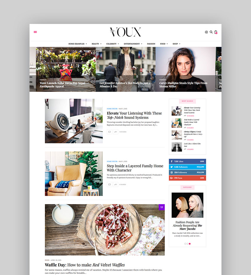 The Voux - Comprehensive Magazine Theme