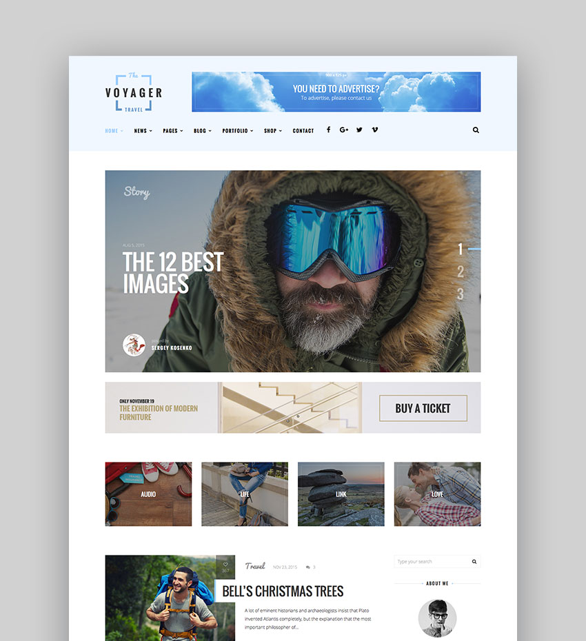 Voyager - Creative Blog WordPress Theme
