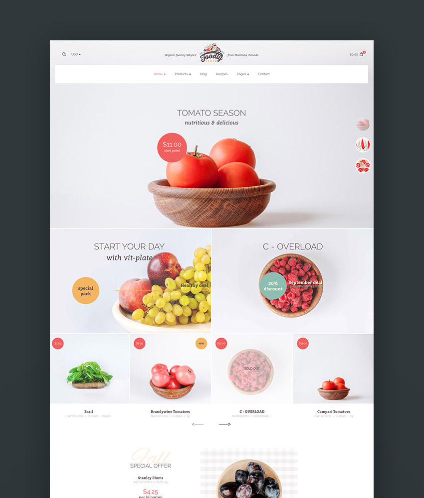Foodly One-Stop Shopify Grocery Shop