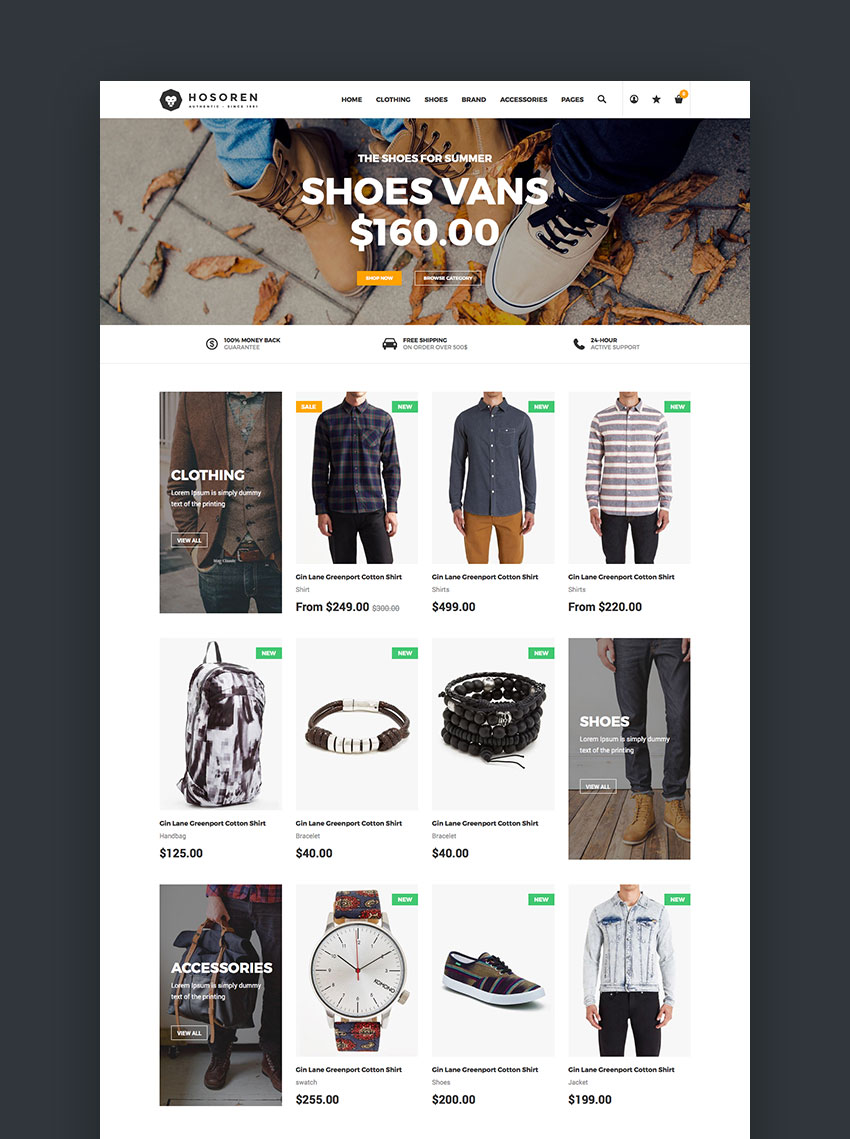 Hosoren - Stylish Shopify Template