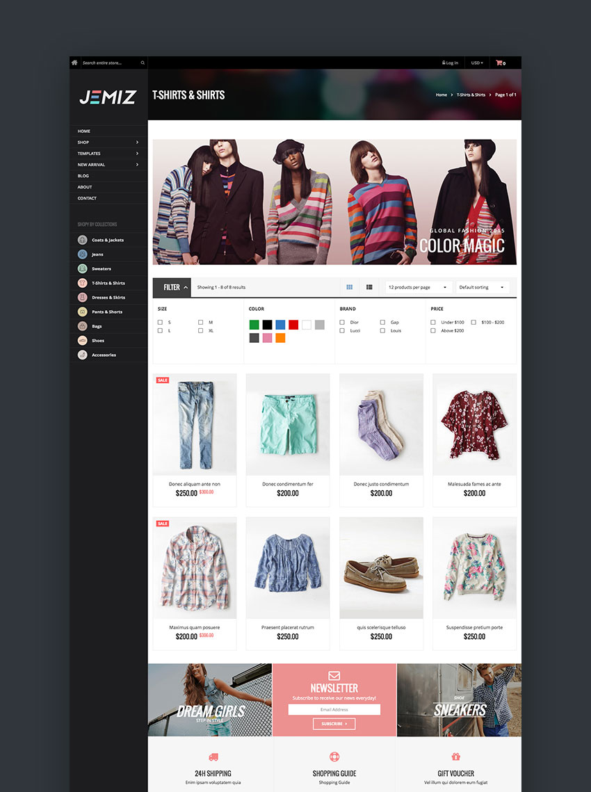 Jemiz - Creative Fashion Shopify Theme