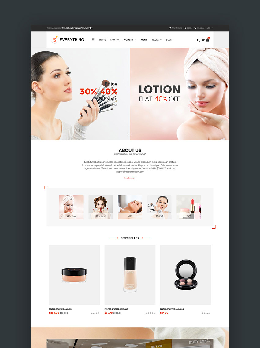 Everything - Multipurpose Premium Responsive Shopify Themes - Fashion Electronics Cosmetics Gifts