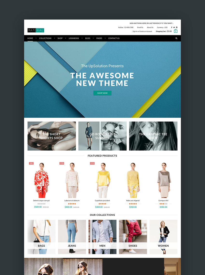 Best Shopify Themes With Beautiful ECommerce Designs - Shopify store templates