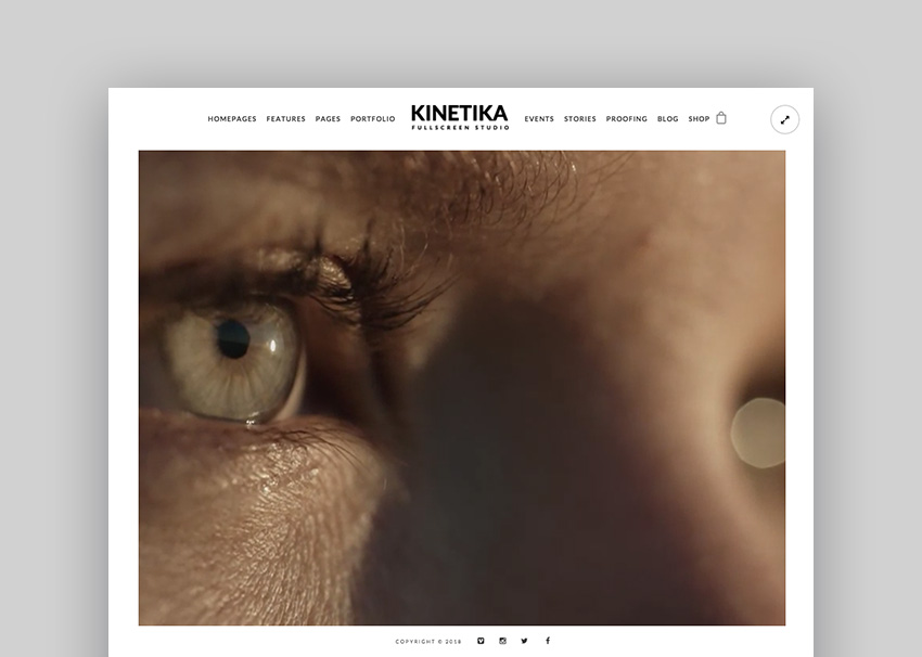 Kinetika - Fullscreen PhotographyVideo Theme