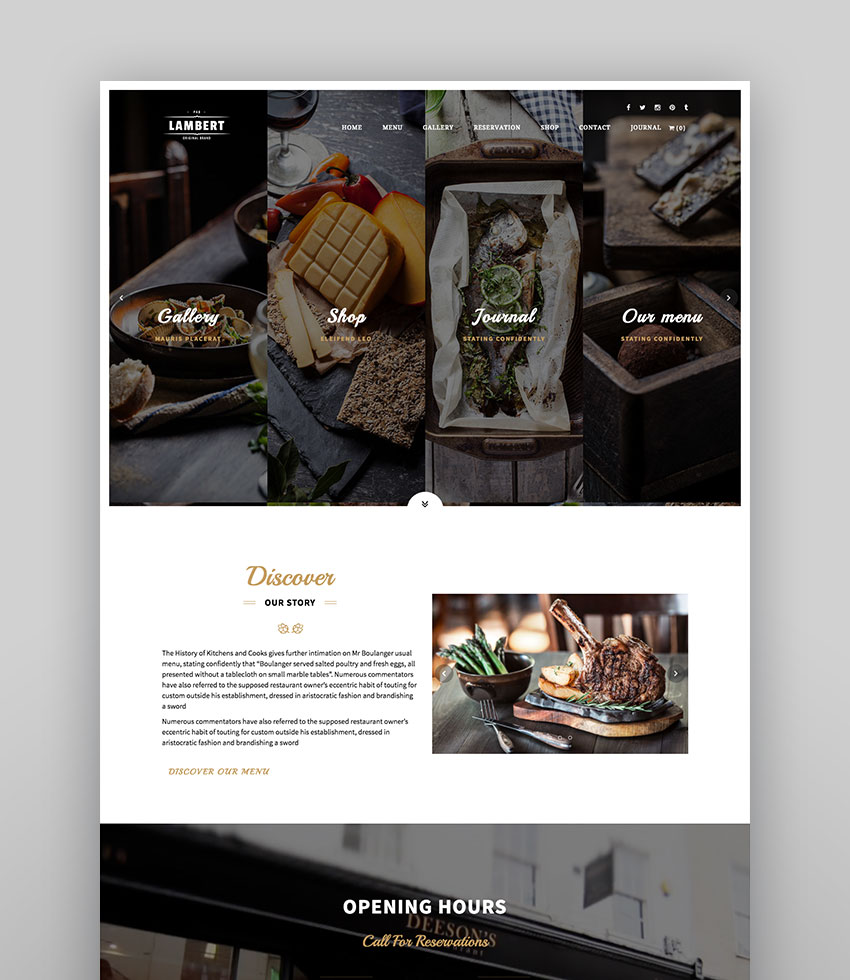 Lambert - Cafe WordPress Theme