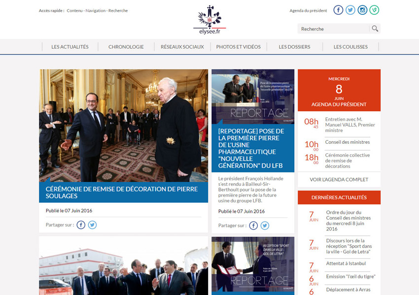 Republic of France official website