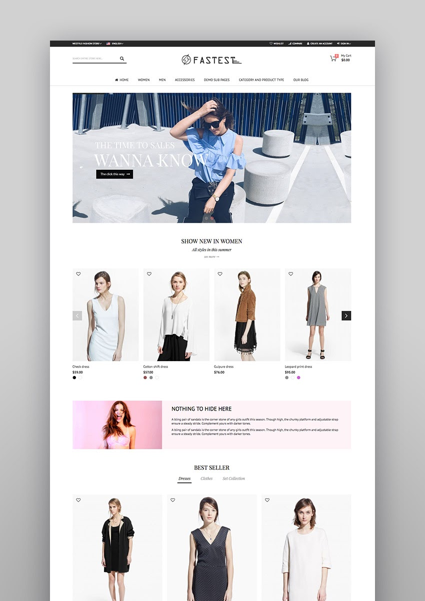 Best ECommerce Website Templates Updated For - Service invoices templates free top 10 mens online clothing stores