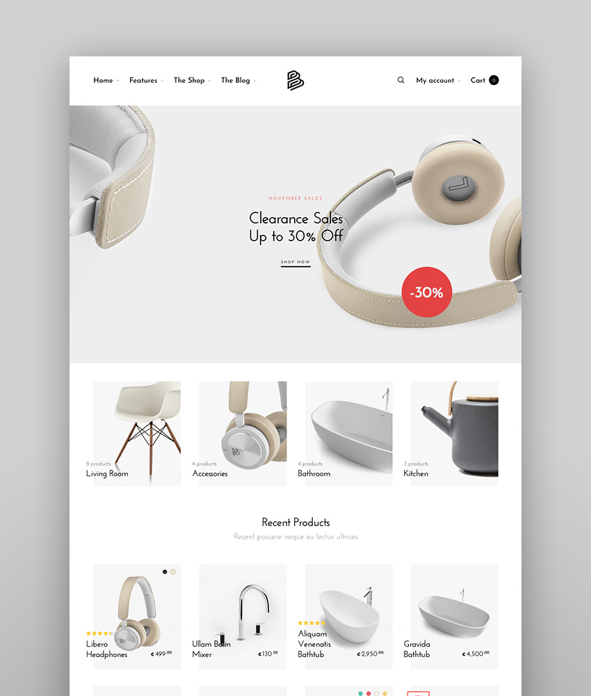 Barberry - Modern WooCommerce Theme