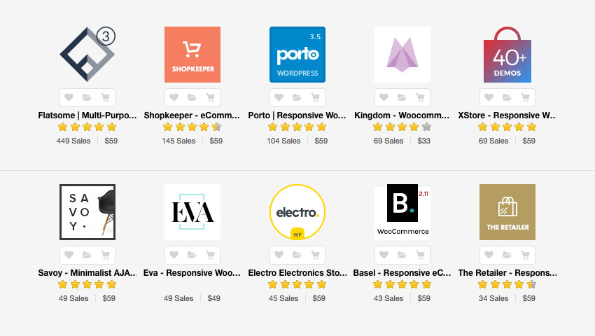 ThemeForest has a wide selection of the best WooCommerce themes