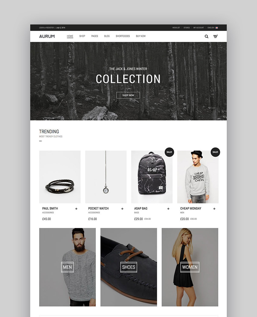 Aurum - Minimalist WP Shopping Theme