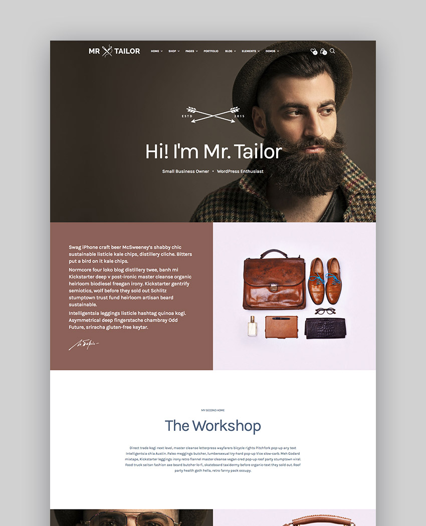 Mr Tailor - eCommerce WordPress Theme Design