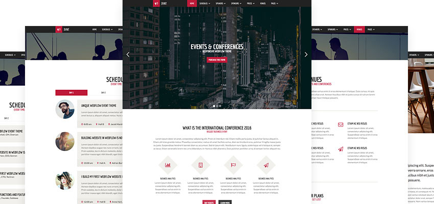 Evnt Webflow Template