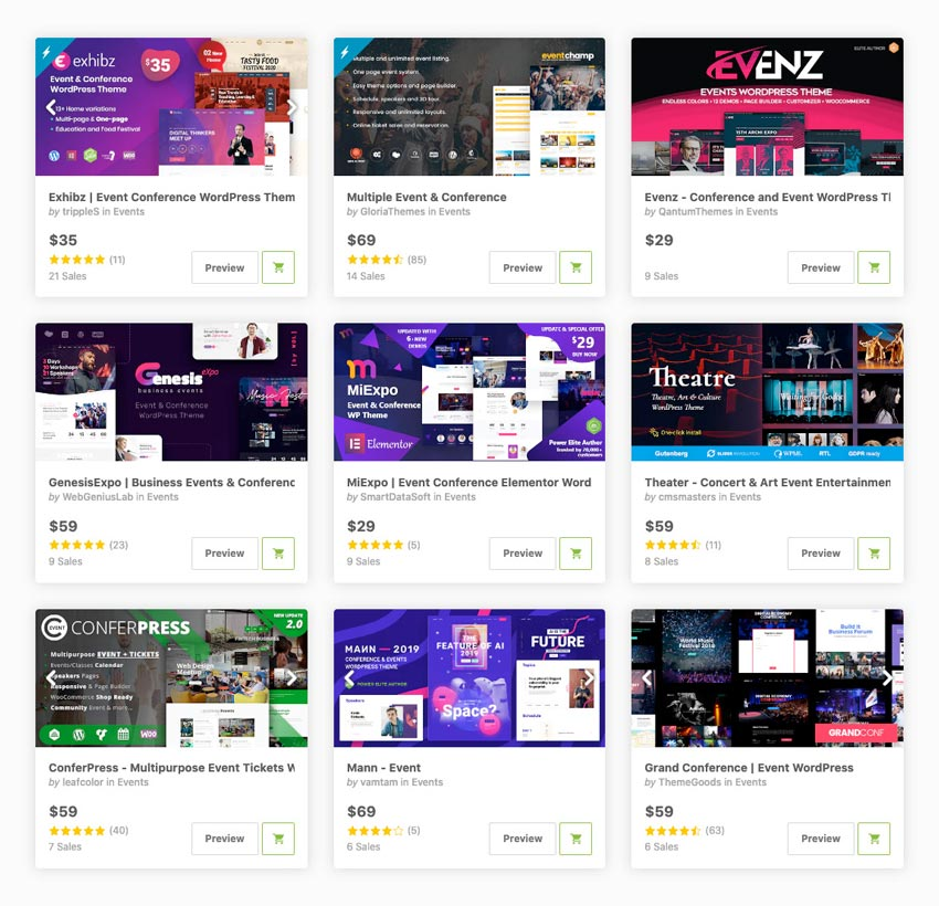Best-Selling Event WordPress Themes
