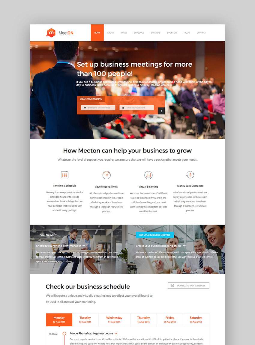 Meeton - Conference  Event WordPress Theme