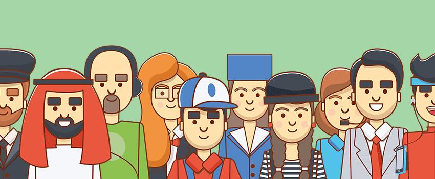 Illustration from 200 Character Kit Job on Envato Market