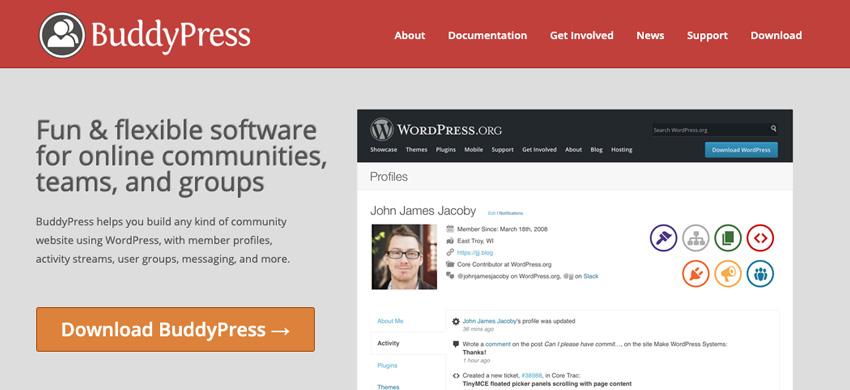Use BuddyPress to extend WordPresss community functionality