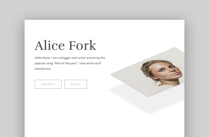 unRovr - Animated vCard  Resume WordPress Theme Alice