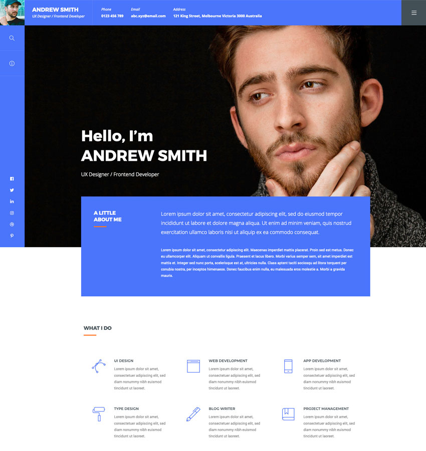 ORB - Creative Portfolio WordPress Theme