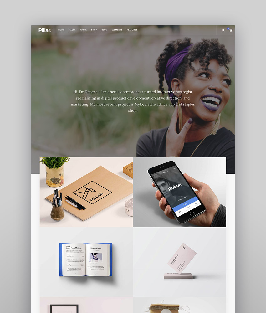 Pillar - Personal Responsive WordPress Theme