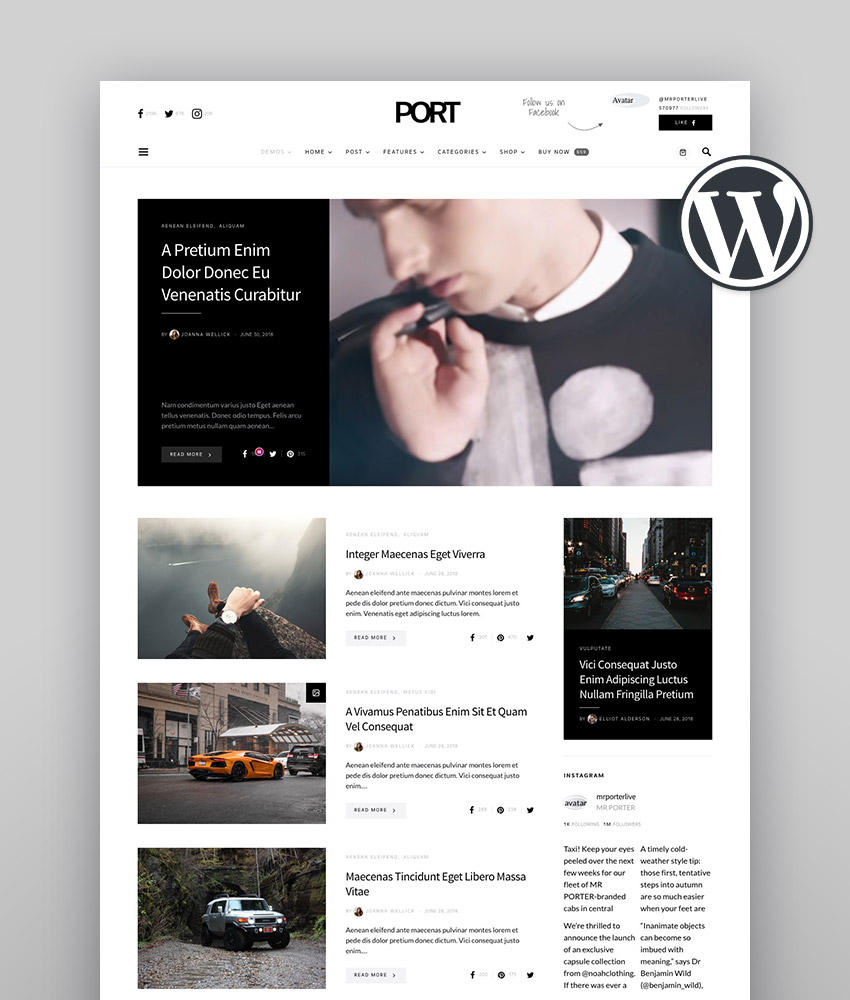 Overflow - Contemporary Blog  Magazine WordPress Theme