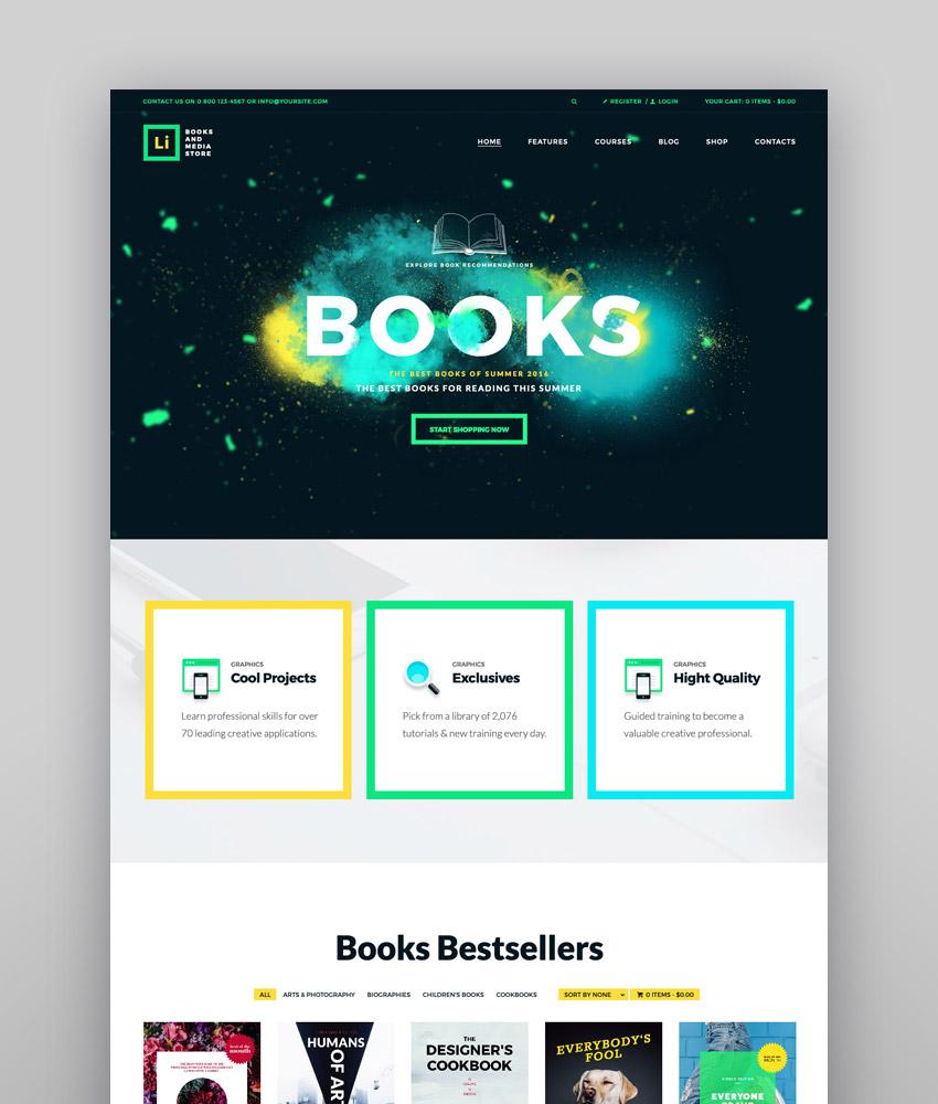 Lorem Ipsum  Books  Media Store WordPress Theme