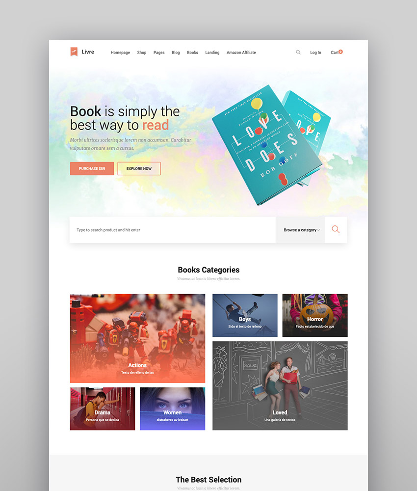 Livre - WordPress eBook Store Template