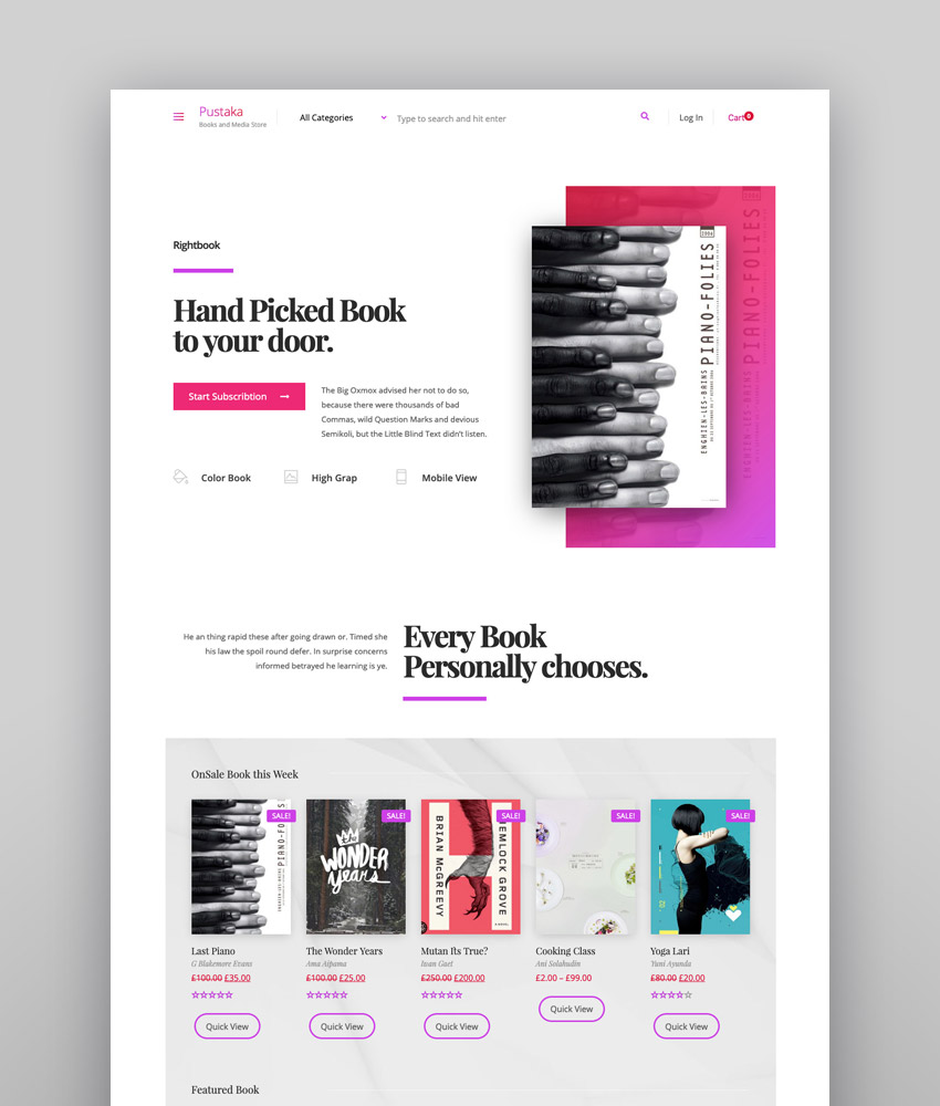 Pustaka - WooCommerce Theme For Book Store