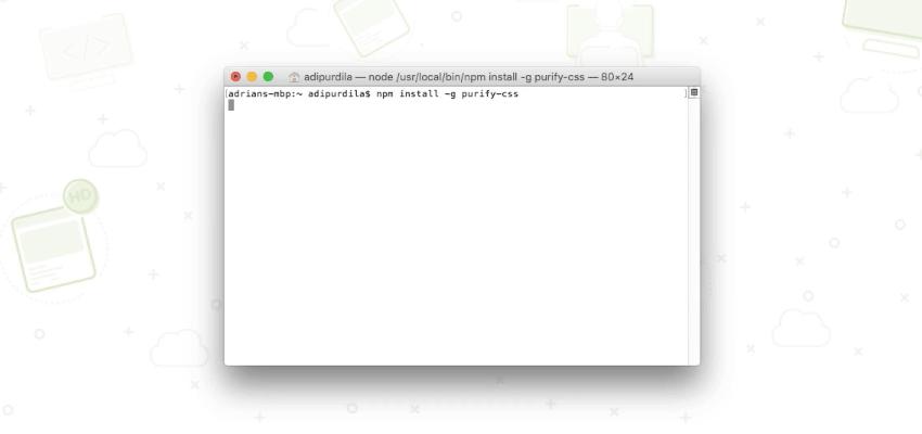install via npm