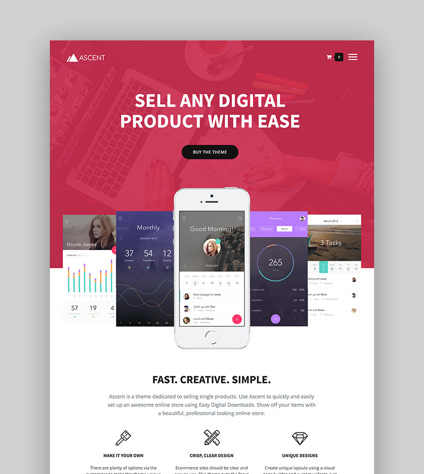 Ascent - WordPress Easy Digital Downloads Theme
