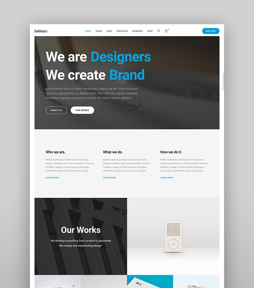Bateaux - Lightweight Agency WordPress Theme