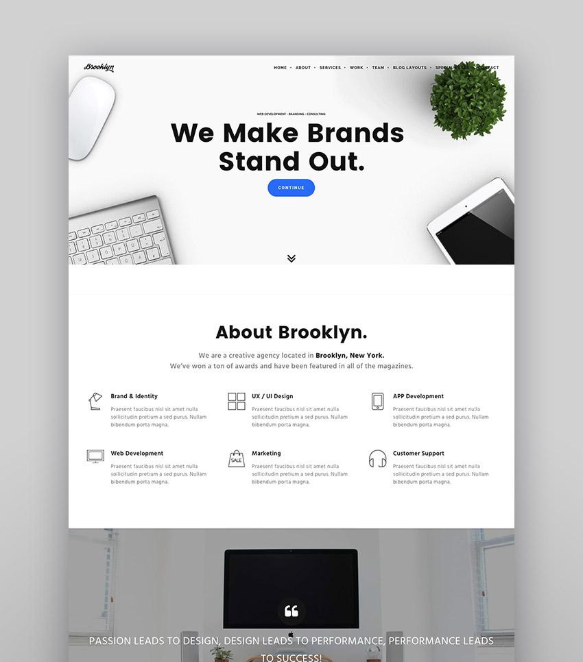 Brooklyn - A Creative WordPress Agency Theme