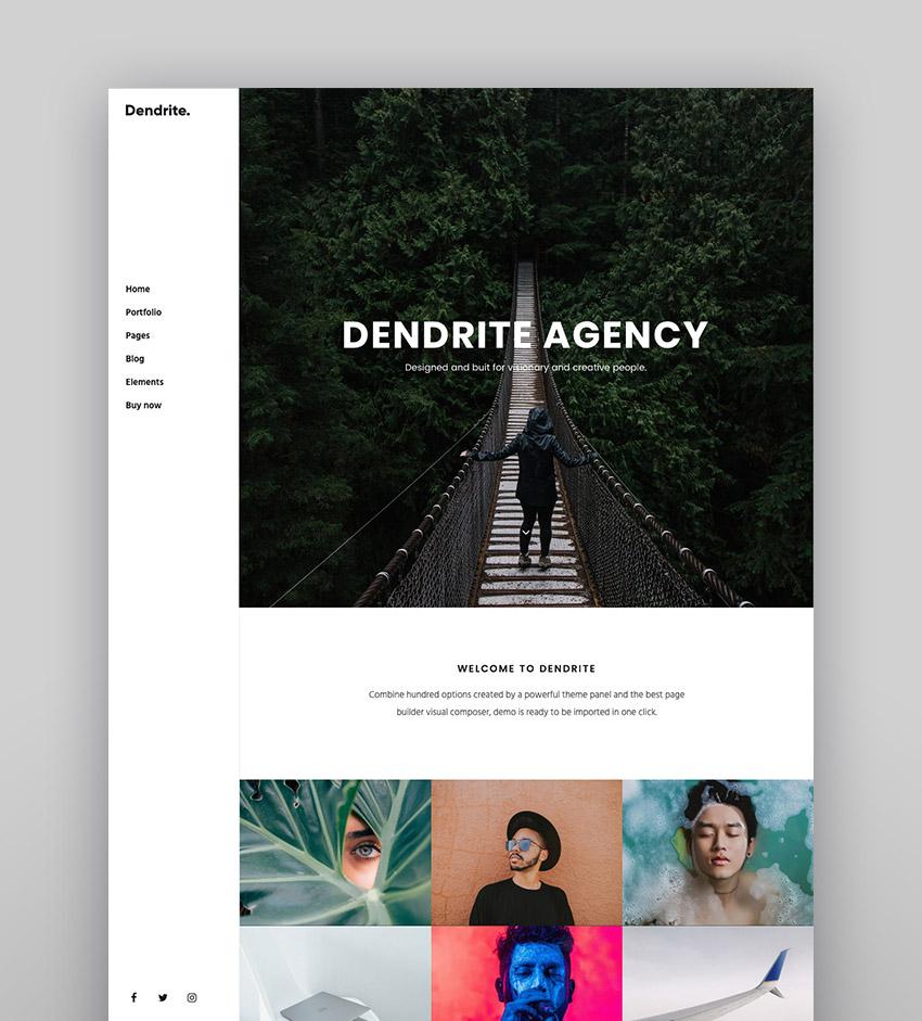 Dendrite - Creative Agency  Portfolio Theme