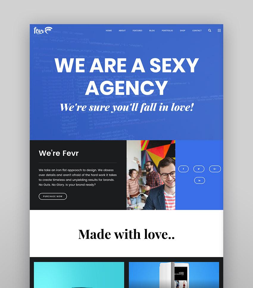 Fevr - Stylish WordPress Agency Template Design