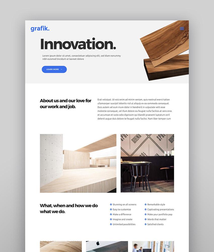 Grafik - Unique WordPress agency website template