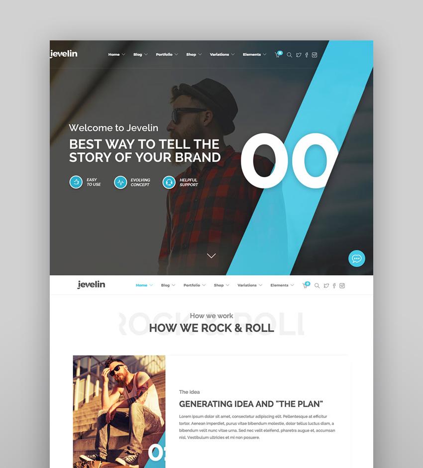 Jevelin - Premium WordPress Theme for Creative Agencies