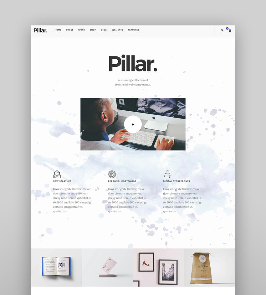 Pillar - Creative Agency Multi-Concept WordPress Template
